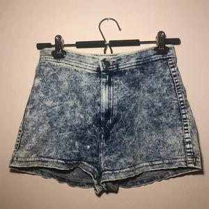 American apparel high rise jean shorts
